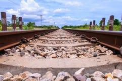 Railway. In the cloudy season Stock Photo