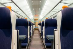 Railway coach interior Royalty Free Stock Photo