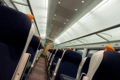 Railway coach interior Stock Image