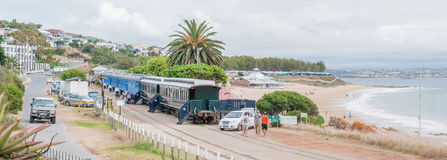 Railway coaches provide accomodation for visitors at the Dias be Royalty Free Stock Photos