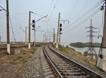 Railway. columns royalty free stock photography