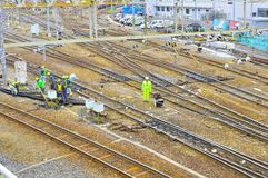 Railway construction Royalty Free Stock Images
