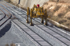 Railway on construction Stock Image