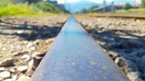 Railway. Construction of railways work background royalty free stock photo