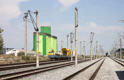 Railway construction site Royalty Free Stock Images