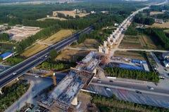Railway construction site in huaian city, jiangsu province, China. On the site of the high-speed railway construction in huaiyang town in huaian city, jiangsu Stock Images