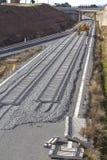 Railway on construction Royalty Free Stock Image