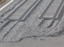 Railway on construction Stock Image