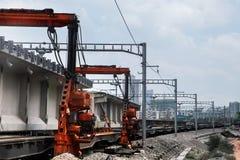 Railway Construction Vehicles Stock Photography