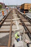 Railway construction Royalty Free Stock Photos