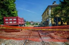 Railway construction yard Stock Images