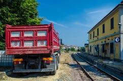 Railway construction yard Royalty Free Stock Image