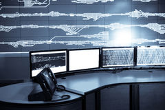 Railway control room Royalty Free Stock Photo