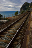 Railway in corniglia Royalty Free Stock Photo