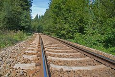 Railway in countryside Stock Photo