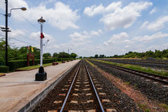 Railway in the countryside Royalty Free Stock Images