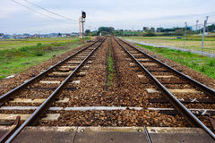 Railway in countryside Royalty Free Stock Image
