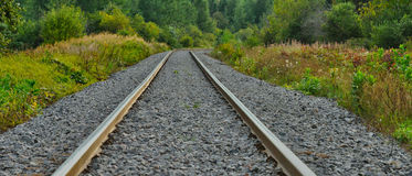 Railway in countryside in quebec Royalty Free Stock Image