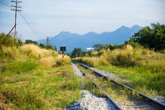 Railway in the countryside Royalty Free Stock Image
