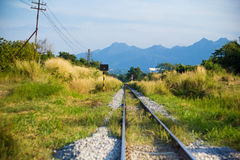 Railway in the countryside Royalty Free Stock Photography
