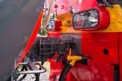 Railway coupler Stock Image