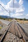 Railway cross road Stock Image