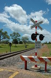 Railway crossing Royalty Free Stock Image