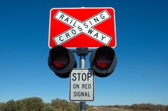 Railway Crossing Stock Photography