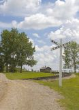 Railway Crossing. A rural railway crossing Stock Photography
