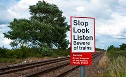 Railway Crossing Stock Image