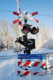 Railway crossing Stock Image