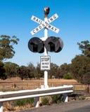 Railway Crossing in Australia Stock Photos