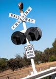 Railway Crossing in Australia Royalty Free Stock Photo