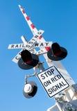 Railway Crossing in Australia Royalty Free Stock Image