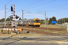 Railway crossing in Brisbane Stock Images