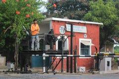 Railway crossing India. Stock Photos