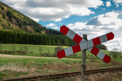 Railway crossing Royalty Free Stock Photography