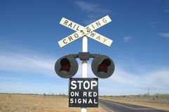 Railway Crossing Outback Royalty Free Stock Photos