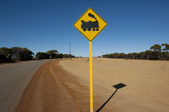Railway Crossing Outback Stock Photo