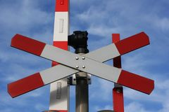 Railway Crossing Point Royalty Free Stock Photos