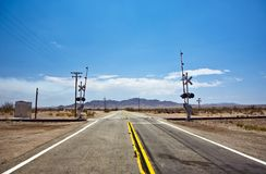 Railway crossing on Route 95 Royalty Free Stock Photos