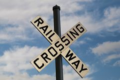 Railway Crossing Sign Stock Photo