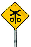 Railway Crossing Sign Royalty Free Stock Image