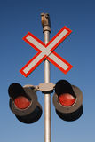 Railway Crossing Sign Royalty Free Stock Photography