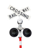 Railway Crossing Sign Stock Photos
