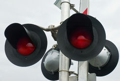 Railway Crossing Signal Stock Images