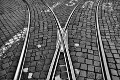 Railway crossroad Royalty Free Stock Images