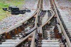 Railway crossroad Stock Images