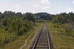 Railway in Cuba countryside Stock Photo