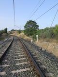Railway curve Stock Photos